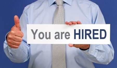 You Are Hired Sign